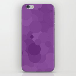 Dewberry Bubble Dot Color Accent iPhone Skin