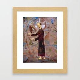 Francis of Assisi Francisco Juan Manuel Rocha Kinkin Framed Art Print