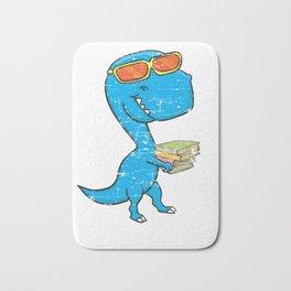 Dino Carrying Books Bath Mat