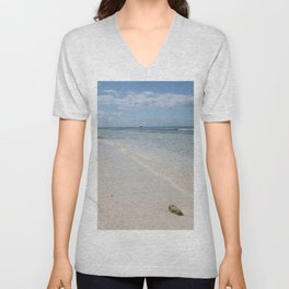 Caribbean Paradise Beach Unisex V-Neck