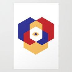 H E X | Eye Art Print