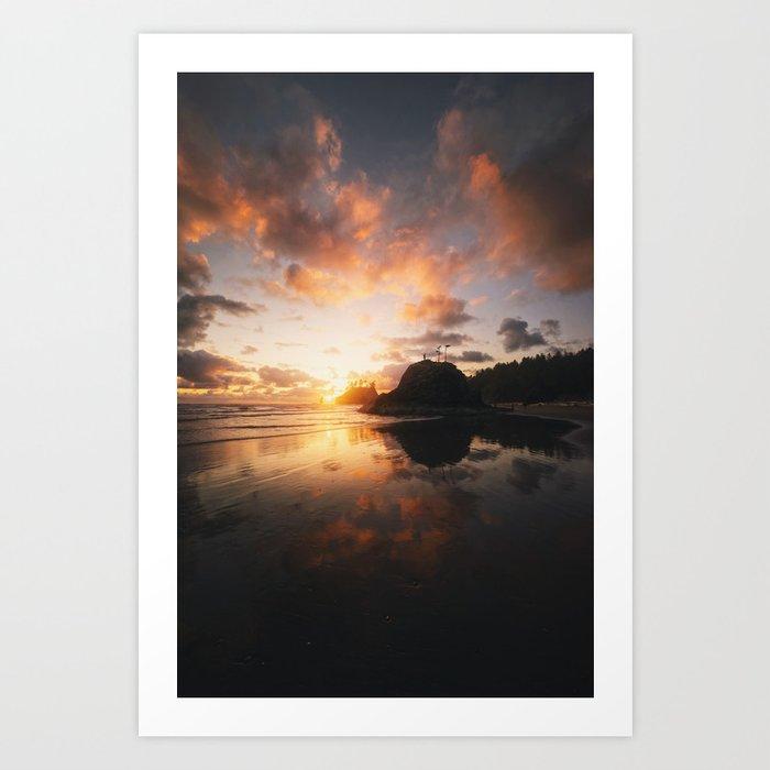 Golden Evening Art Print