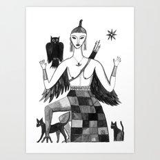 Ishtar, Queen of the Night II Art Print