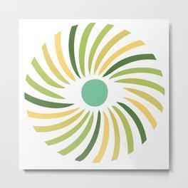 Retro radial eye design Metal Print