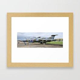 Buccaneer aircraft panoramic Framed Art Print