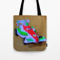 car Tote Bags featuring car by aticnomar