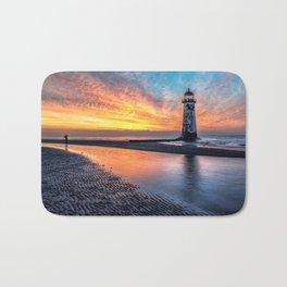 Lighthouse Sunset Bath Mat