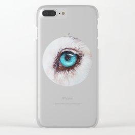 Husky's eye Clear iPhone Case