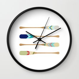 Oars Wall Clock