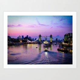 Early morning at Tower Bridge Art Print