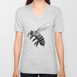 Amos Fortune Bee Unisex V-Neck