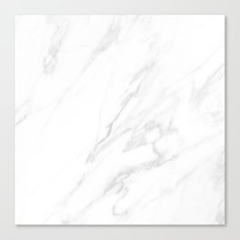 Classic White Marble Canvas Print