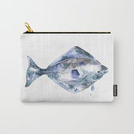 Flat Fish Watercolor Carry-All Pouch