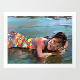 Reflections of Julia Art Print