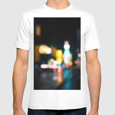 Times Square Empty Mens Fitted Tee MEDIUM White