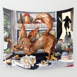 It is the foxy fennec who purged whole fridge Wall Tapestry