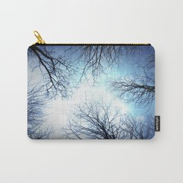 Black Trees Blue sky Carry-All Pouch
