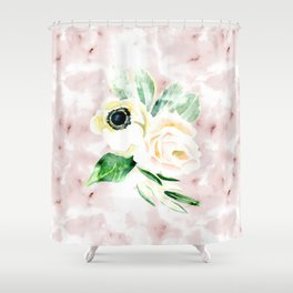 Impermanent Flowers in Pink Shower Curtain