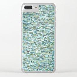 Blue Raindrops Juul art Clear iPhone Case