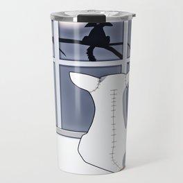 Watching on a Blue Night Travel Mug