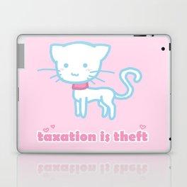 Taxation Is Theft Kitty Laptop & iPad Skin