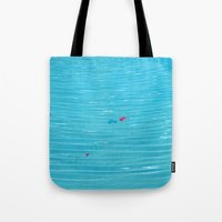 pool Tote Bags featuring Pool by AlexinaRose