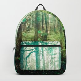 Magical Green Forest - Nature Photography Backpack