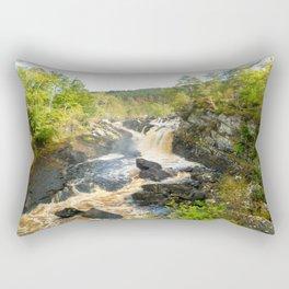 Rogie Falls at Blackwater River, Scotland Rectangular Pillow