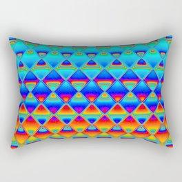 neon tiles Rectangular Pillow