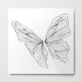 Butterfly Go Fly 1 Metal Print