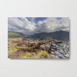 Dinorwic Slate Quarry Metal Print