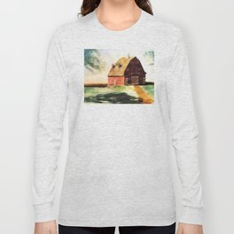 Autumn Sun on Barn Long Sleeve T-shirt