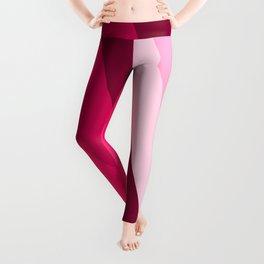 pink side fade pattern Leggings