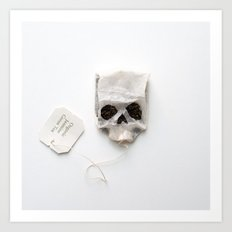 253. Tea Bag Skull Art Print