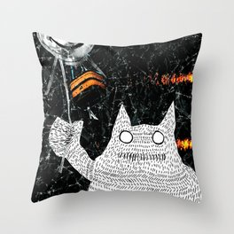 The Monster Unslayable Throw Pillow