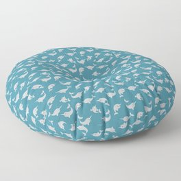 Narwhals Under the Sea Floor Pillow