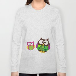 new owl/color Long Sleeve T-shirt
