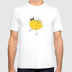 Birdy White SMALL Mens Fitted Tee