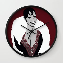 Josephine Baker the Original Flapper Femme Fatale circa 1920 Wall Clock