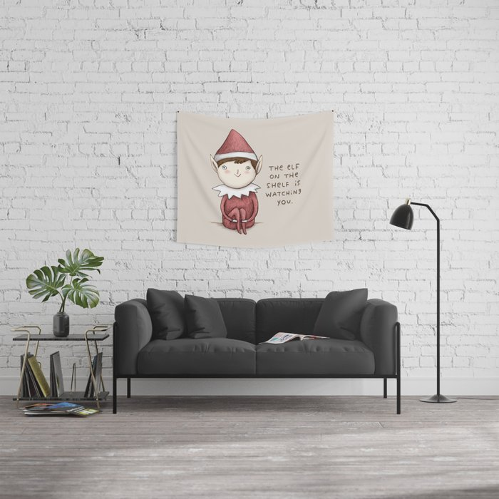 The Elf on The Shelf Wall Tapestry