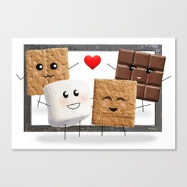 Friends with Smores Canvas Print