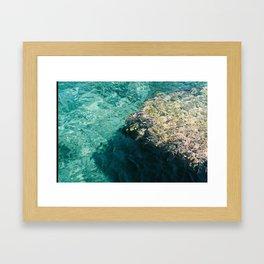 Blue Crystal Framed Art Print