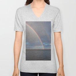 Double Rainbow Unisex V-Neck