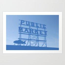 Pike Place - Public Market (Seattle, WA) Art Print