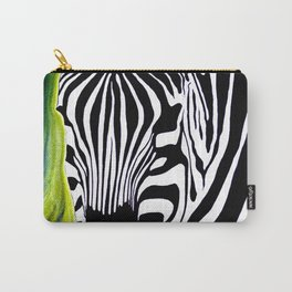 Green Black and White Zebra Carry-All Pouch