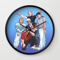 boys Wall Clocks featuring Kirkwall Boys by VIKTOPIA