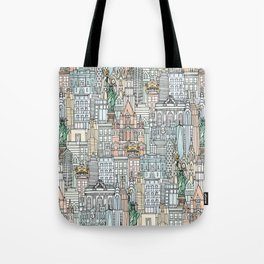 New York watercolor Tote Bag