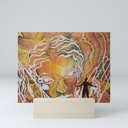 Soaking in her Radiance Mini Art Print