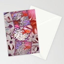 Distinctive Tropical Flower Garden Collage Stationery Cards