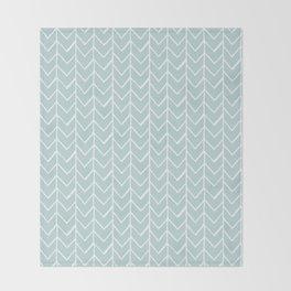 Herringbone Mint Throw Blanket